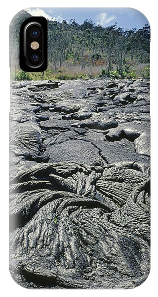 IPhone Case featuring the photograph 100964 Lava Flow Patterns Hi by Ed Cooper Photography