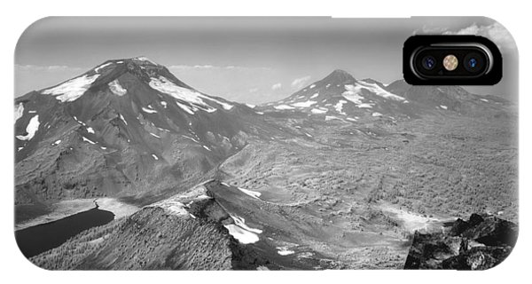 IPhone Case featuring the photograph 105723 Sisters From Broken Top Or by Ed Cooper Photography