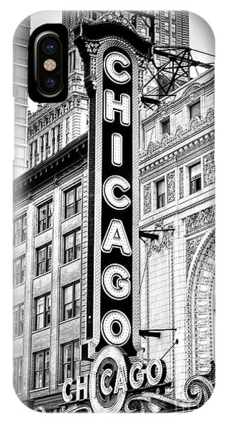 1077 Chicago Theater Black And White IPhone Case