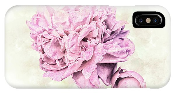 Close Up Floral iPhone Case - 10861 Spring Peony by Pamela Williams