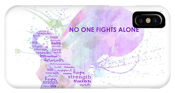 10969 No One Fights Alone IPhone Case