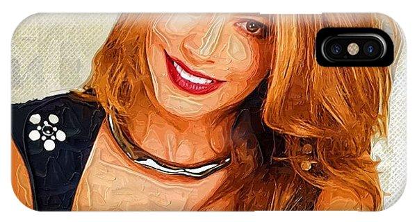 Shakira iPhone Case - Actress Sofia Vergara  by Elizabeth Simon
