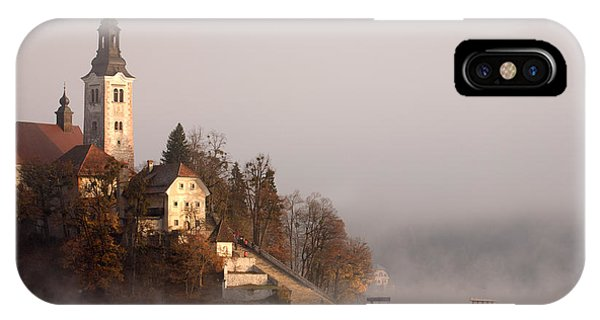 Misty Lake Bled IPhone Case