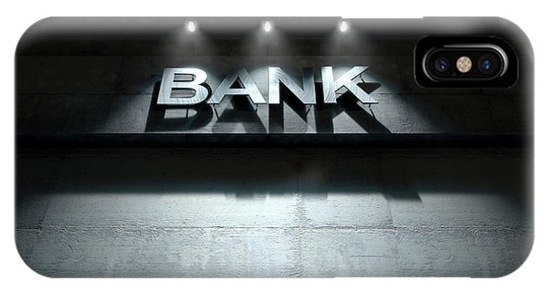 Modern Bank Building Signage IPhone Case