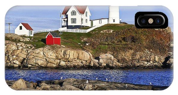 Navigation iPhone Case - Nubble Lighthouse by John Greim