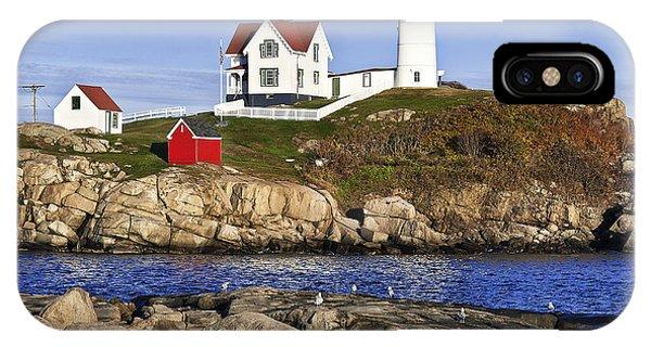 Nubble Light iPhone X Case - Nubble Lighthouse by John Greim