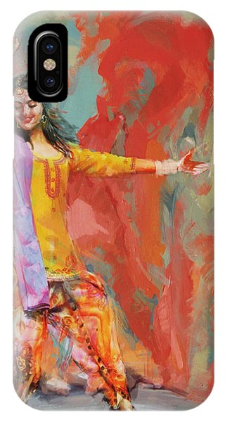 Dance iPhone Case - 11 Pakistan Folk Punjab by Maryam Mughal
