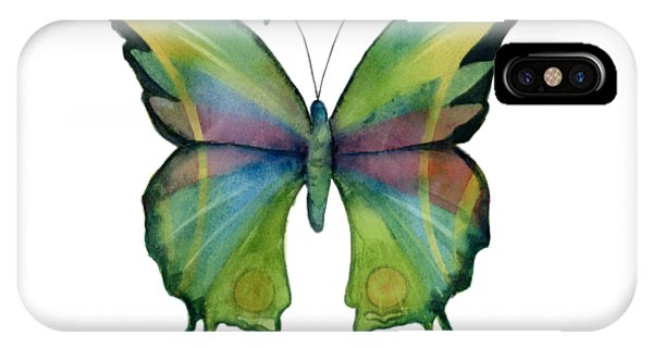 Moth iPhone Case - 11 Prism Butterfly by Amy Kirkpatrick