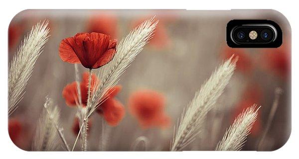Flower Gardens iPhone Case - Summer Poppy Meadow by Nailia Schwarz