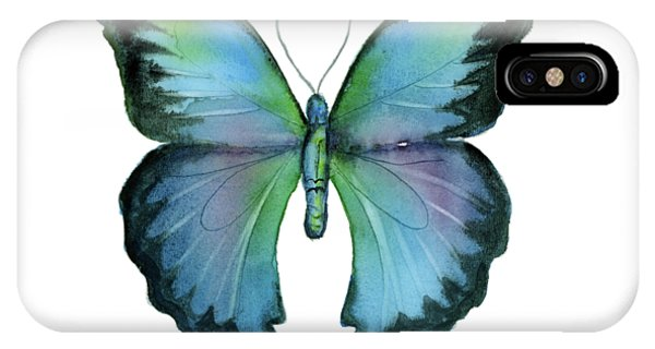 12 Blue Emperor Butterfly IPhone Case
