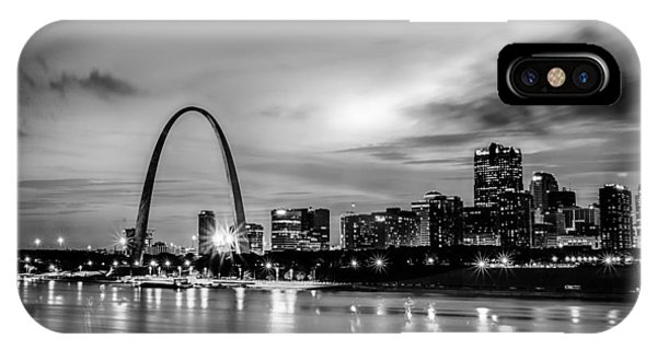 City Of St. Louis Skyline. Image Of St. Louis Downtown With Gate IPhone Case