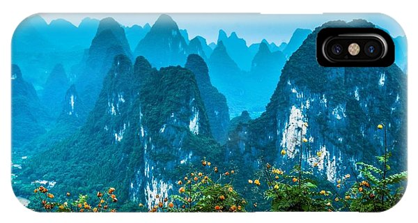 IPhone Case featuring the photograph Karst Mountains Landscape by Carl Ning