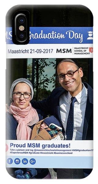School iPhone Case - Msm Graduation Ceremony 2017 by Maastricht School Of Management