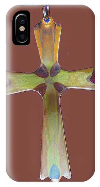 1282a Golden Cross IPhone Case