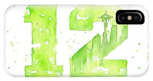 Needles iPhone Case - 12th Man Seahawks Art Go Hawks by Olga Shvartsur