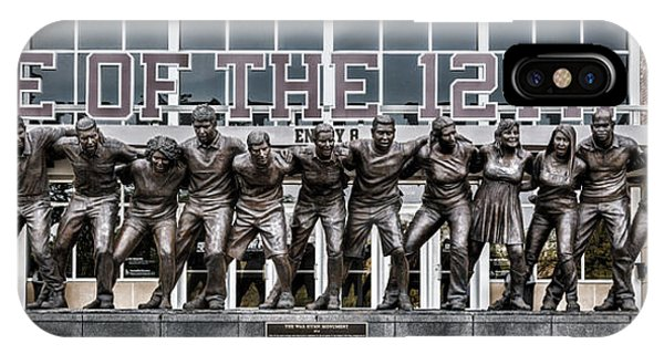 Aggie iPhone Case - 12th Man by Stephen Stookey