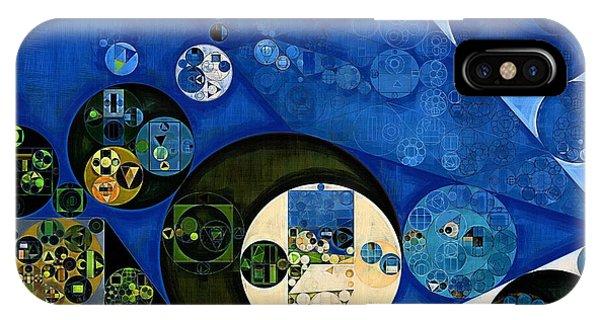 Kangaroo iPhone Case - Abstract Painting - Dark Jungle Green by Vitaliy Gladkiy
