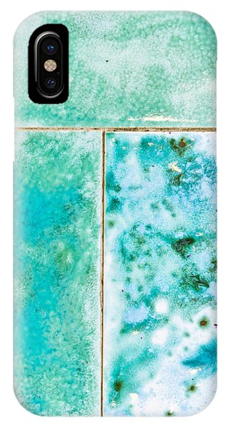 Stone Wall iPhone Case - Blue Tiles by Tom Gowanlock