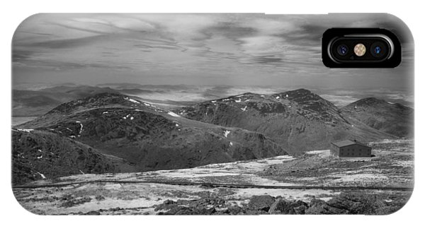 IPhone Case featuring the photograph 135764 Presidential Range Nh Infrared by Ed Cooper Photography