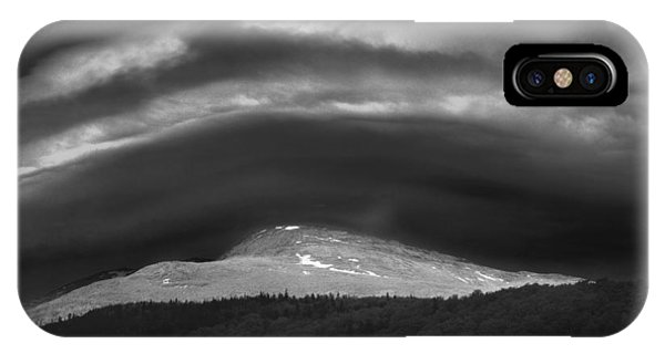 IPhone Case featuring the photograph 135765 Mt. Washington Lenticular Cloud Nh by Ed Cooper Photography