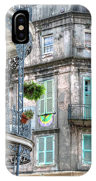 1358 French Quarter Balconies IPhone Case