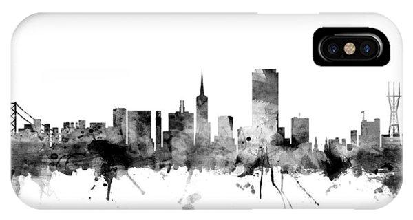 San Francisco iPhone Case - San Francisco City Skyline by Michael Tompsett