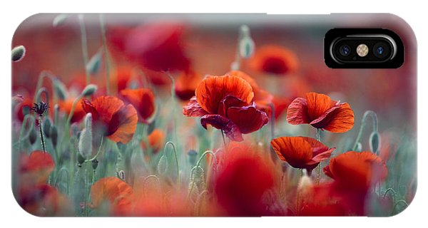 Bloom iPhone Case - Summer Poppy Meadow by Nailia Schwarz