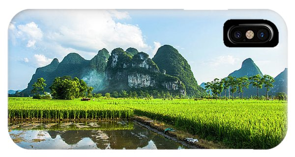 IPhone Case featuring the photograph The Beautiful Karst Rural Scenery by Carl Ning