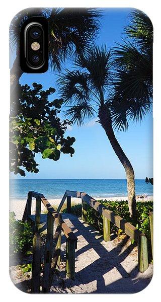 14th Ave S Beach Access Ramp - Naples Fl IPhone Case