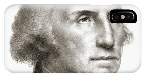 United States Presidents iPhone Case - George Washington by Rembrandt Peale