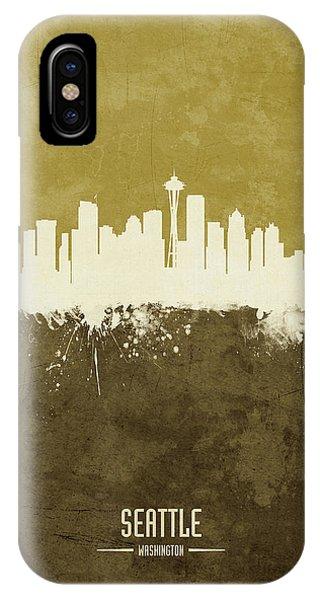 Seattle iPhone X Case - Seattle Washington Skyline by Michael Tompsett