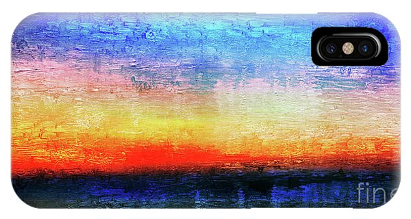 15a Abstract Seascape Sunrise Painting Digital IPhone Case