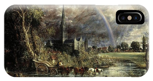 Salisbury Cathedral From The Meadows IPhone Case