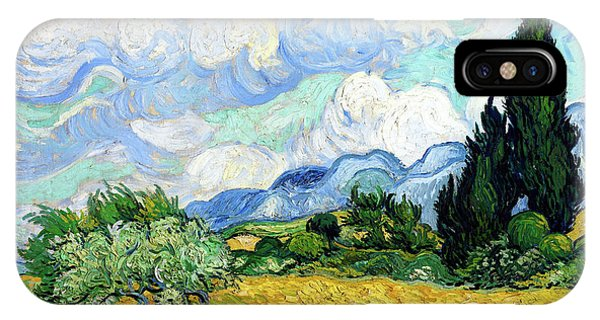 Wheat Field With Cypresses IPhone Case