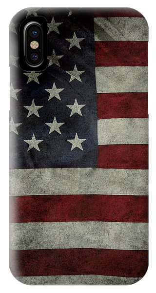 American Flag iPhone Case - American Flag 62 by Les Cunliffe