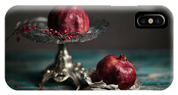Blue Berry iPhone Case - Pomegranate by Nailia Schwarz