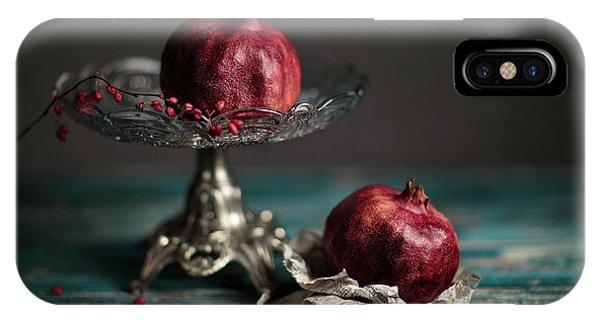 Blue Berry iPhone Case - Pomegranate by Nailia Schwarz
