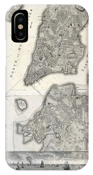 1766 Map Of New York City IPhone Case