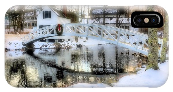 Centennial Bridge iPhone Case - 1780 Somesville Selectman's Building And Bridge  by Elizabeth Dow