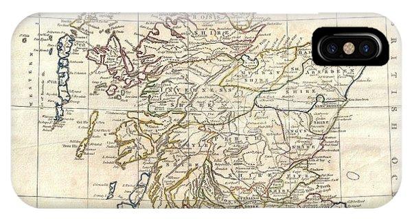 1799 Scotland Map IPhone Case
