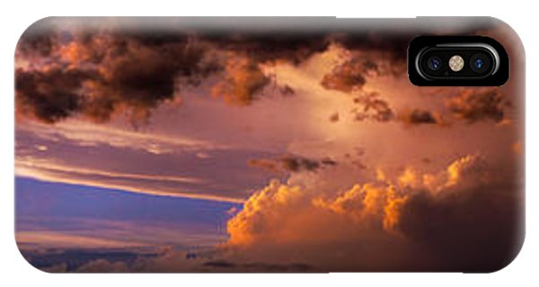 Nebraskasc iPhone Case - Nebraska Hp Supercell Sunset by NebraskaSC