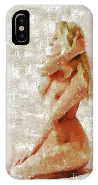 Strange iPhone Case - Self Portrait By Mb by Mary Bassett