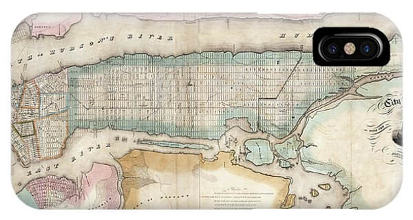 1852 New York City Map IPhone Case