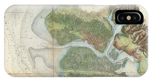 iPhone Case - 1857  Coast Survey Map Of San Antonio Creek And Oakland, California  by Paul Fearn