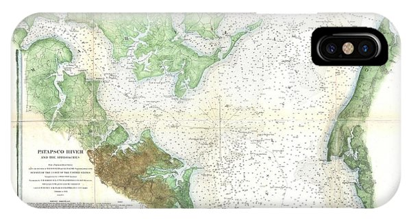 Antique Map Of Chesapeake Bay iPhone Cases Fine Art America