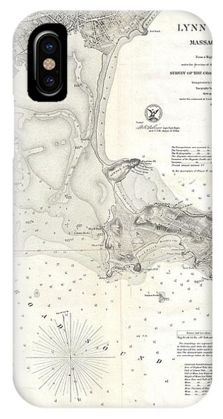 iPhone Case - 1859 U.s. Coast Survey Map Of Lynn Harbor, Massachusetts by Paul Fearn