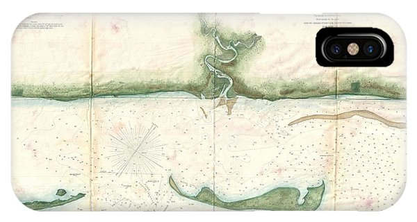 iPhone Case - 1859 U.s. Coast Survey Map Of St. George Sound, Florida Panhandle by Paul Fearn
