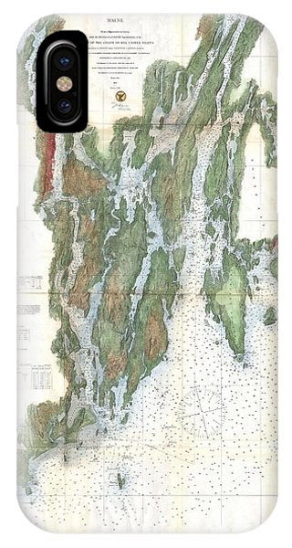 iPhone Case - 1862 Us Coast Survey Map Of The Kennebec And Sheepscot Rivers Maine Nautical Chart by Paul Fearn