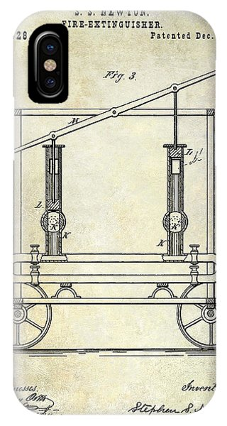 vintage fire truck iphone case - 1875 fire extinguisher patent by jon  neidert