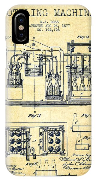 Brewery iPhone Case - 1877 Bottling Machine Patent - Vintage by Aged Pixel